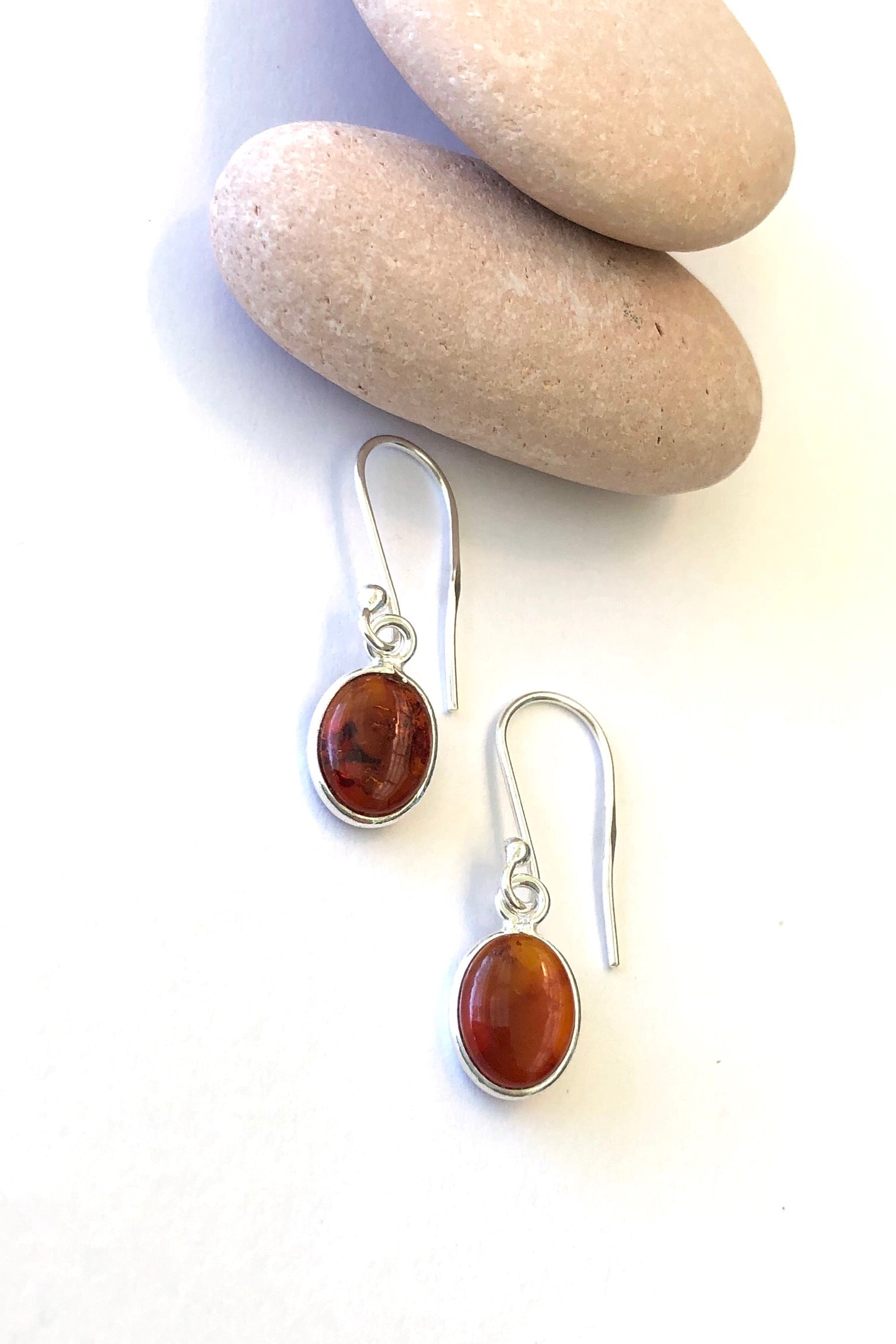 Oracle Earrings Amber Oval Drop