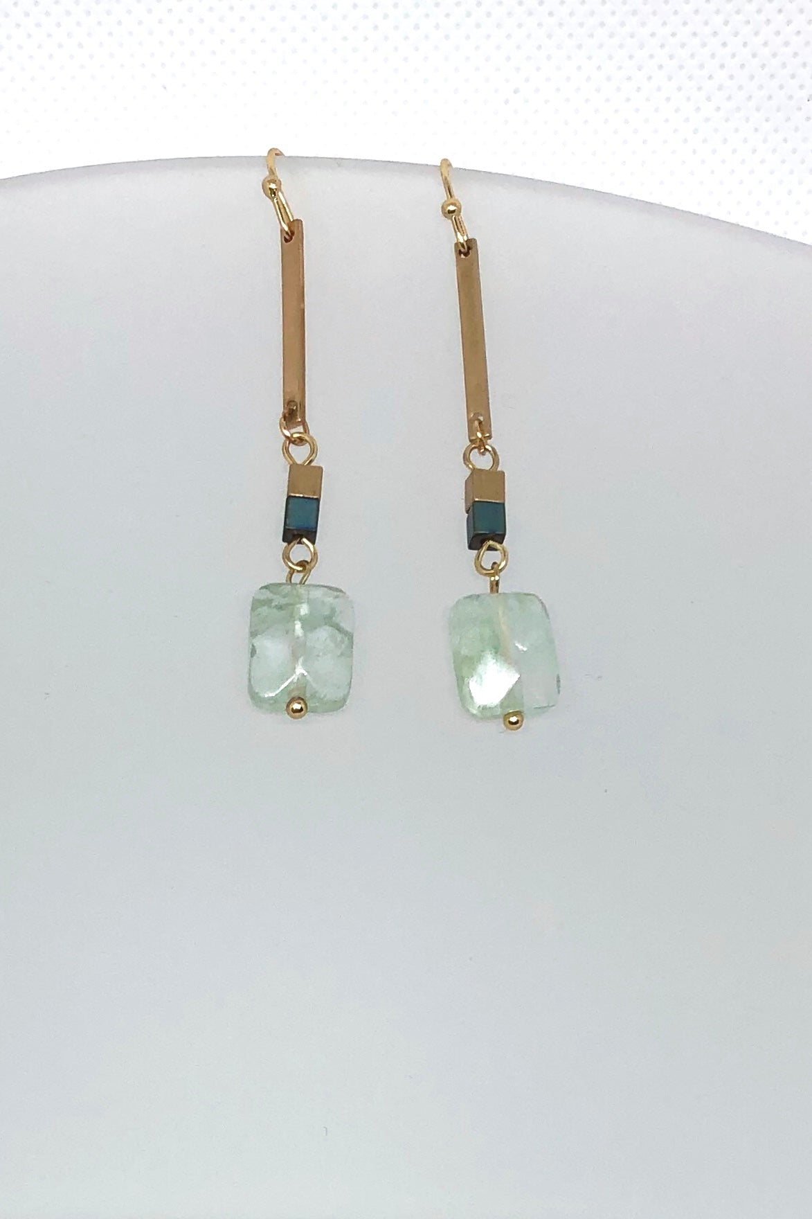 Earrings Meta Aqua Facet