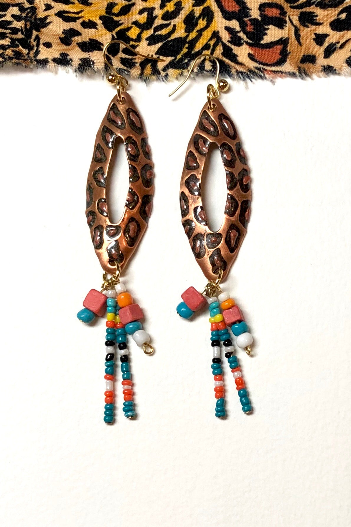 Earrings Zenza Safari in Two Prints