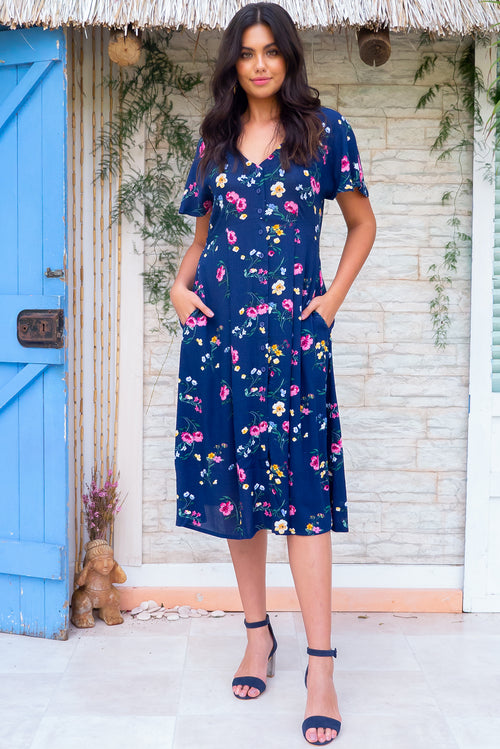 Faithful Chelsea Navy Dress