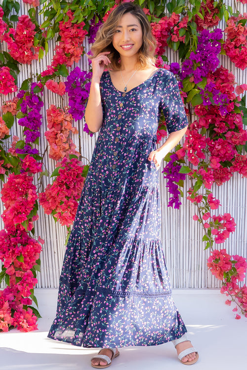 Georgiana Navy Nuit Maxi Dress