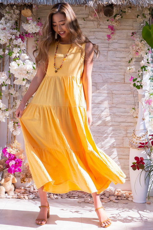 Goldie Sunshine Midi Dress