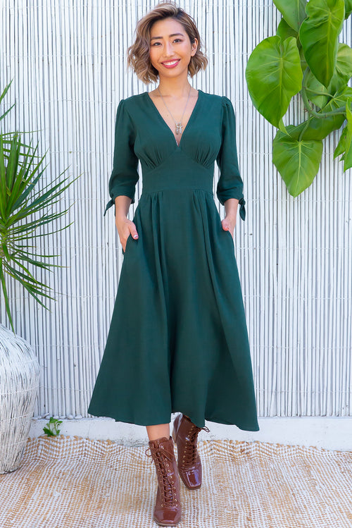 Henrietta Emerald Green Dress