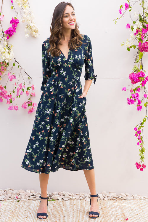 Henrietta Navy Vinca Dress