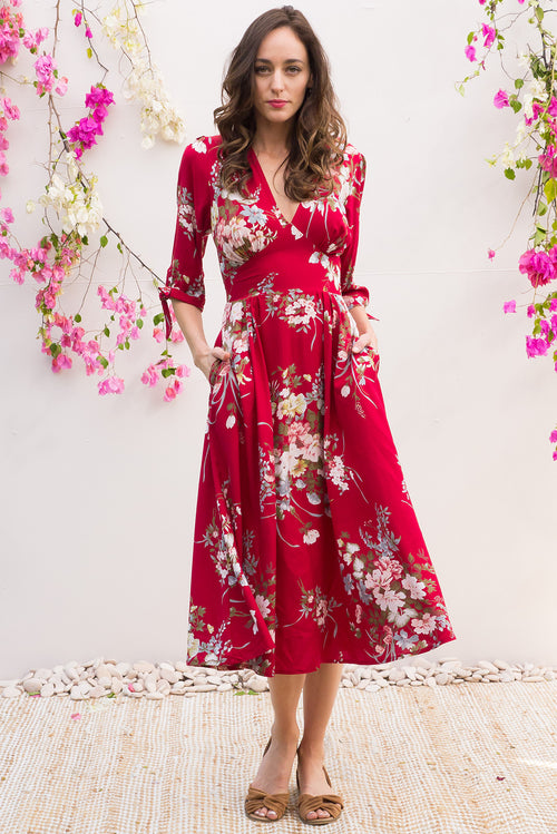 Henrietta Red Bouquet Dress