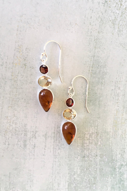 Oracle Trilogy Gemstone Earrings