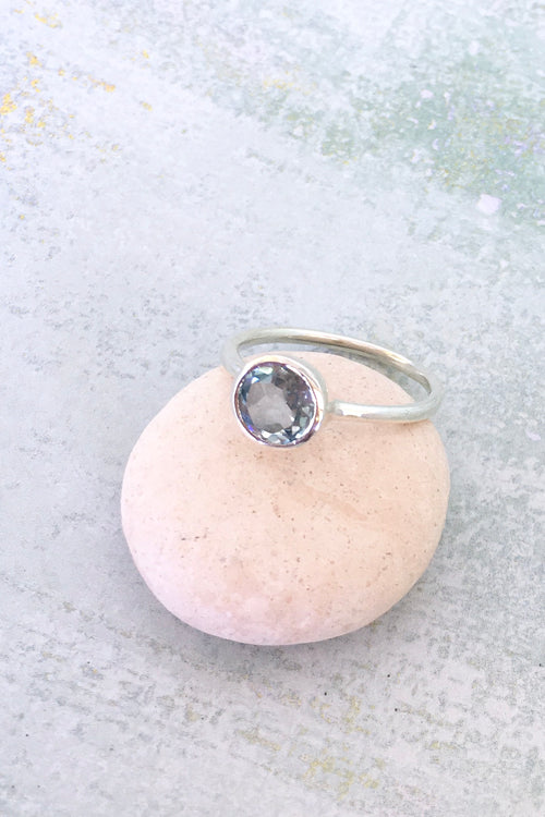 Oracle Topaz & Silver Ring