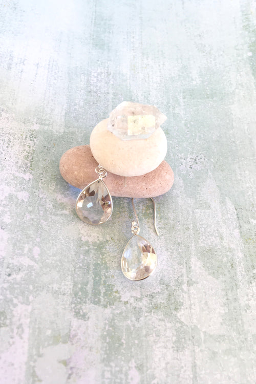 Oracle Quartz & Silver Earrings