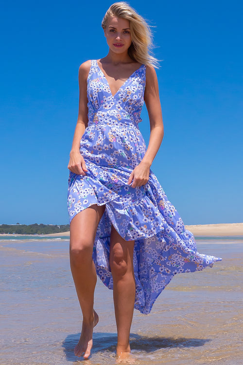 Isla Periwinkle Blue Maxi Dress