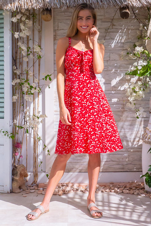 Jay Bay Dandelion Red Dress