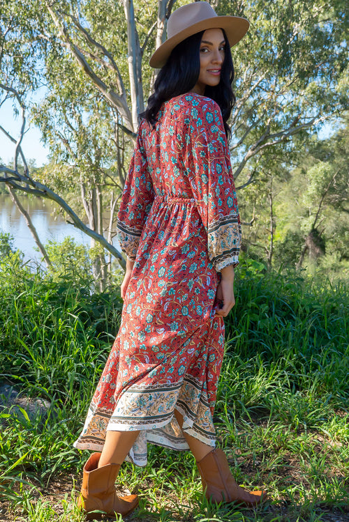 Jaye Rusty Red Maxi Dress