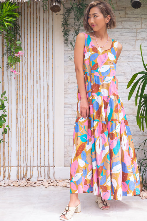 Jina Magic Leaf Maxi Dress