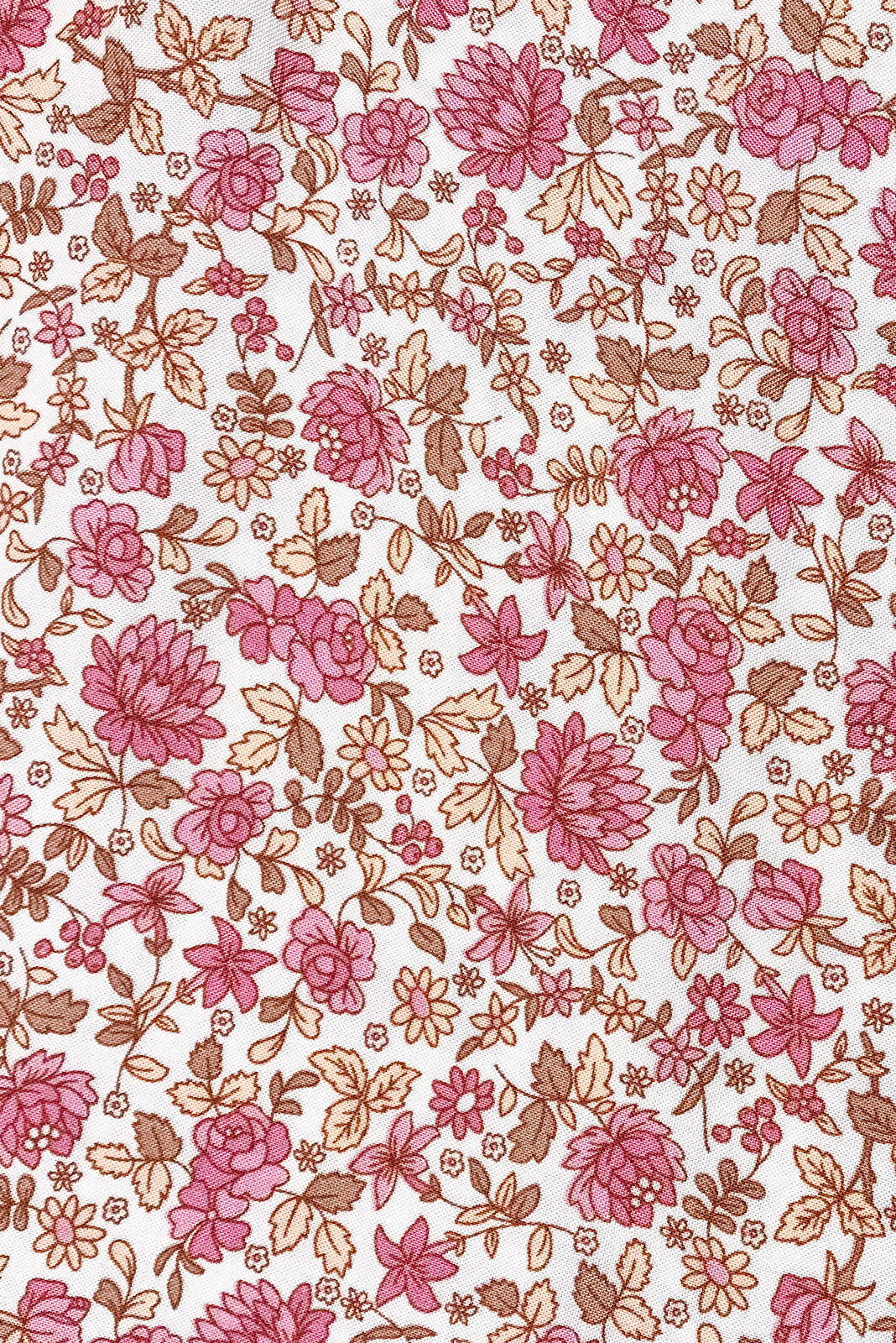 Fabric Swatch of Jude Damask Pink Dress is soft viscose fabric in  retro bohemian pink print.