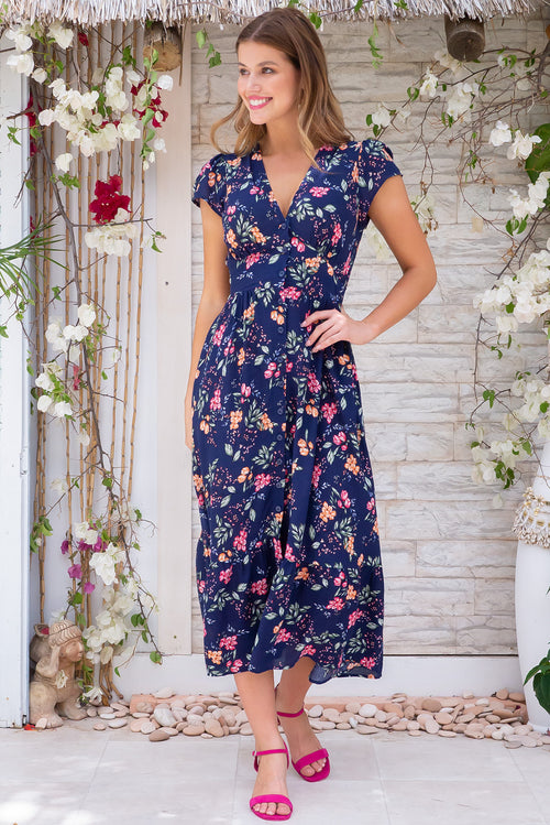 Jude Oxford Blue Midi Dress