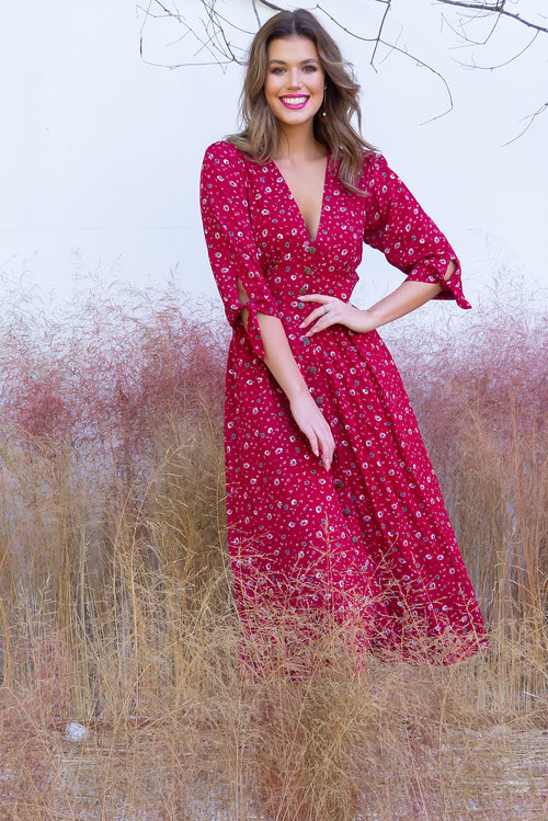 Judith Red Rea Dress