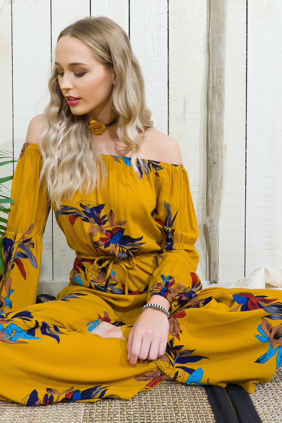 Jumpsuit Jasmine in Spice Yellow