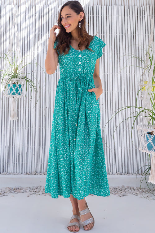 Juniper Orla Green Maxi Dress