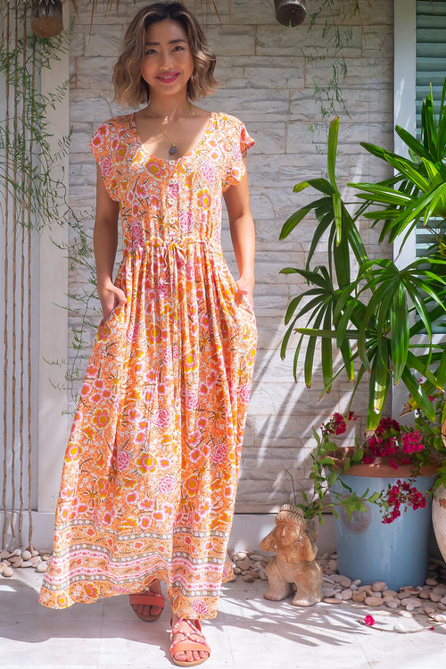 Juniper Peach Sandrine Maxi Dress