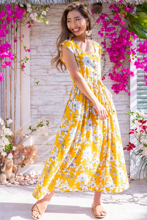 Juniper Maxi Golden Etch Dress