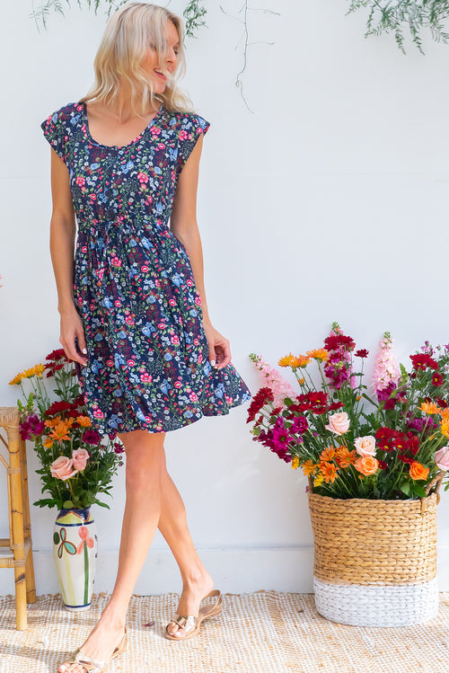 Juniper Wildflower Navy Dress