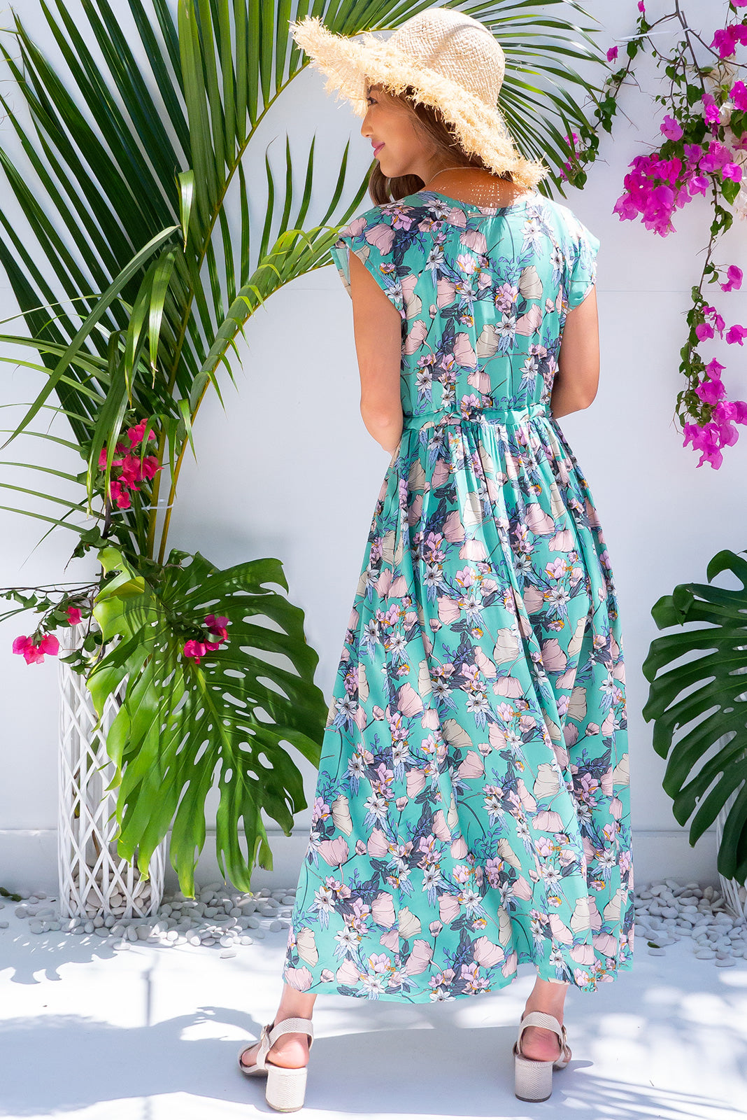 Juniper Sea Petals Maxi Dress