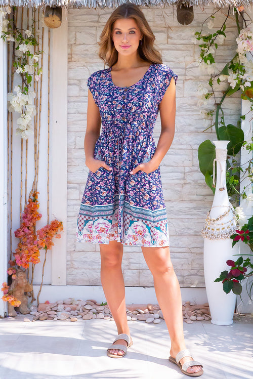 Juniper Sonnet Navy Dress