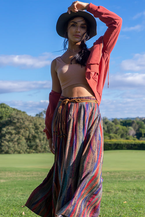 Keely Ruby Ribbons Maxi Skirt