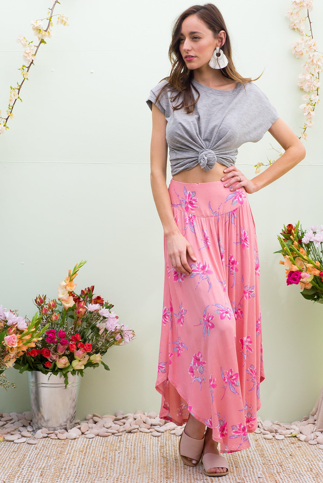 Laguna Maxi Skirt Angeles Pink