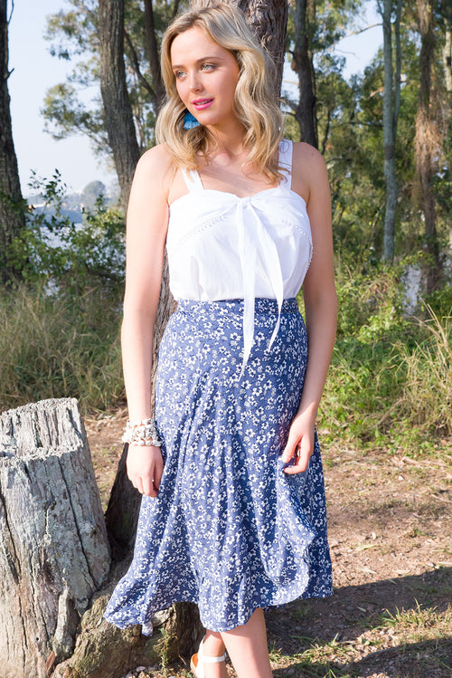 Limelight Wrap Skirt Navy