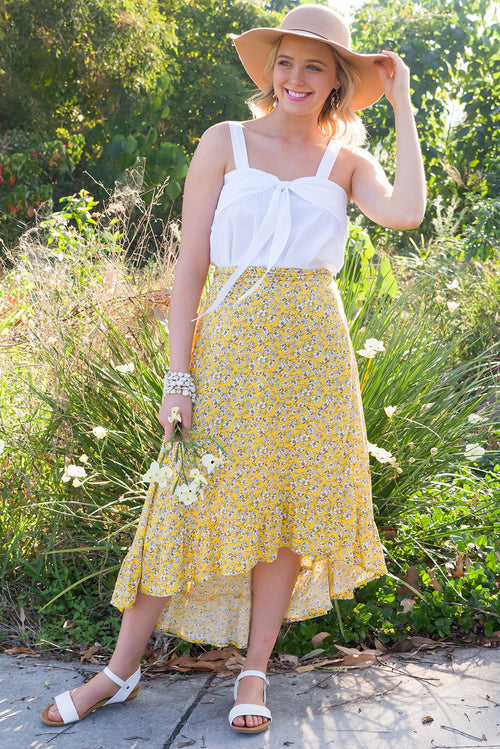 Limelight Wrap Skirt in Sunshine Yellow