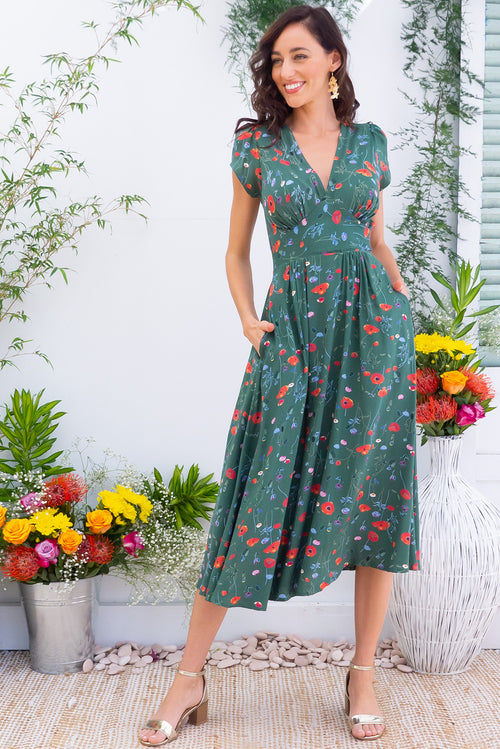 Lizzie Lea Green Dress