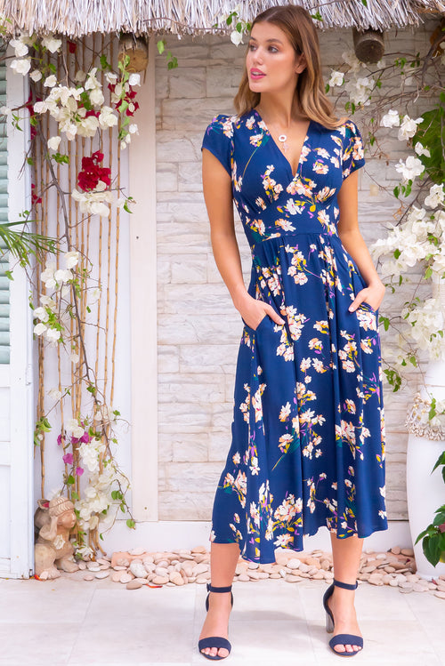 Lizzie Oceans Navy Dress
