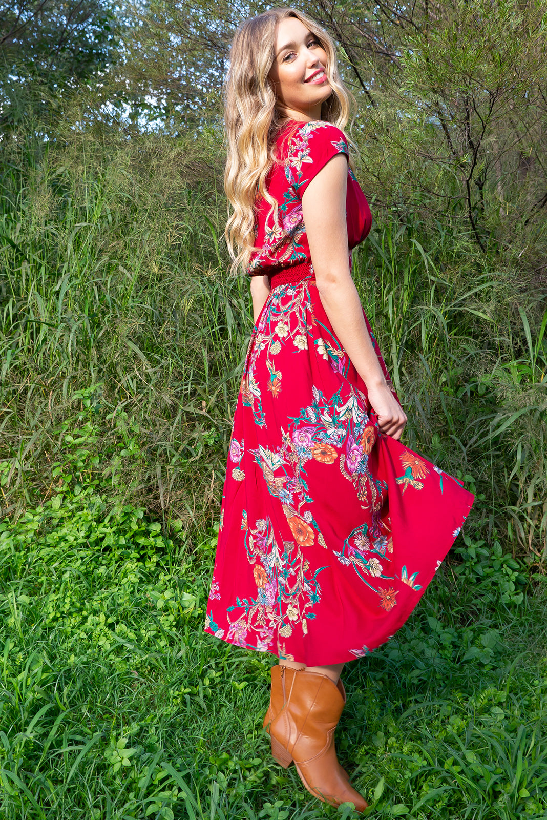Lizzie Red Bouquet Dress