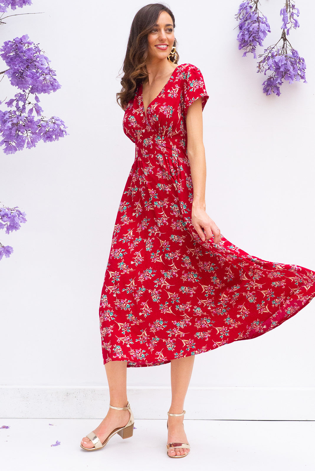 Lizzie Red Spring Dress