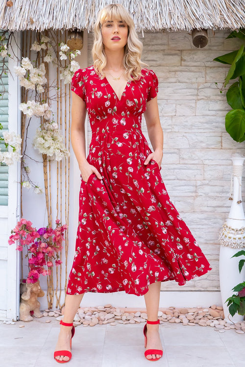 Lizzie Rosebud Red Dress