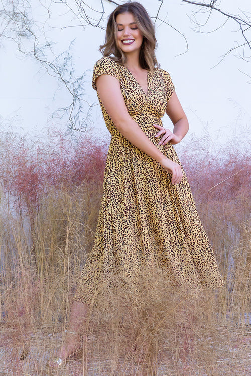 Lizzie Shona Golden Dress