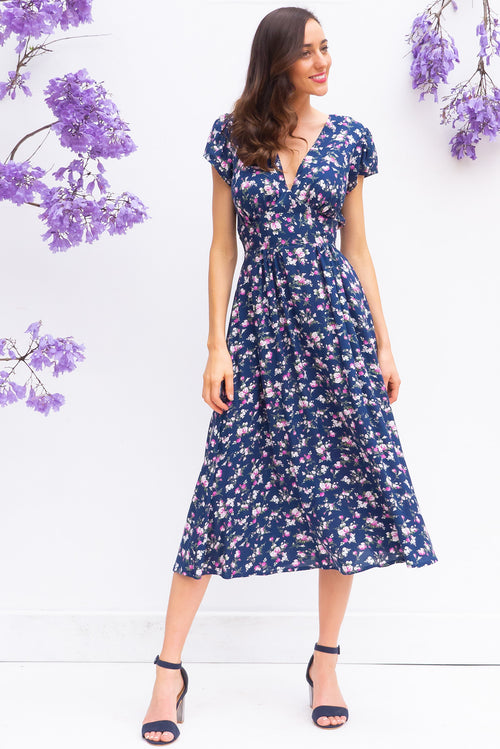 Lizzie Navy Tahalia Dress Restocked