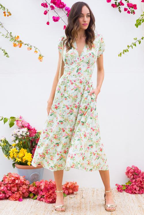 Lizzie Perfect Parrot Mint Dress