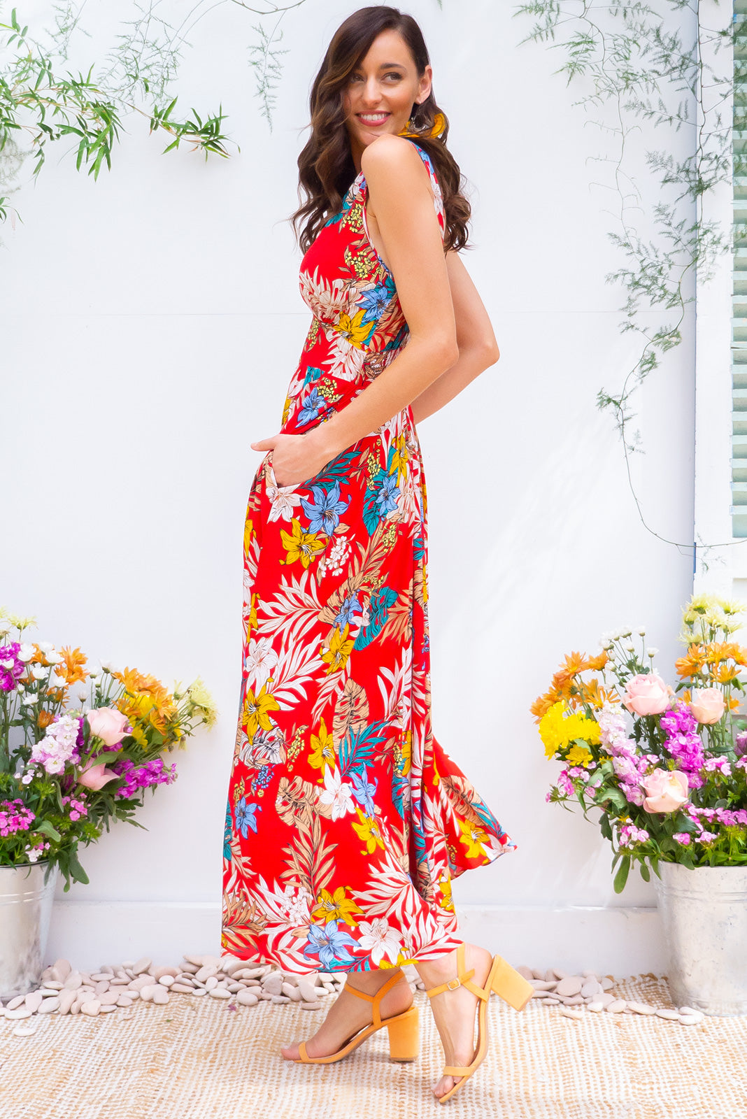 Lola Jungle Rouge Maxi Dress