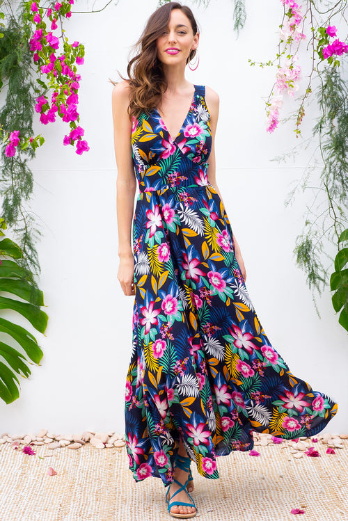 Lola Neon Jungle Navy Maxi