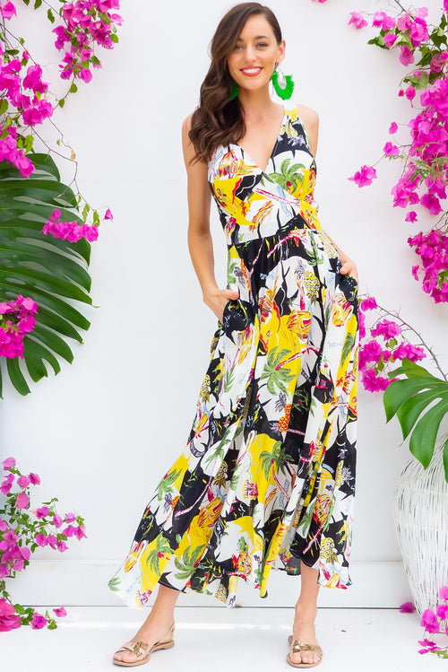 Lola Postcards Noir Maxi Dress