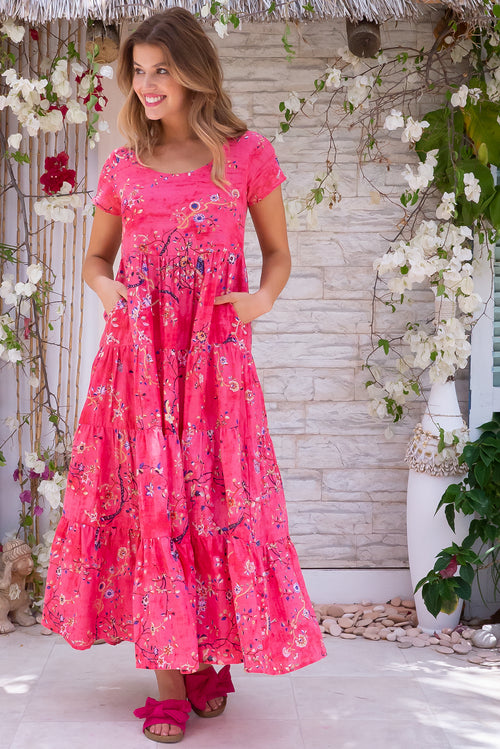 Lucky Lulu Coral Dreams Maxi Dress