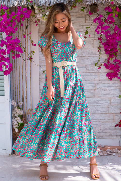 Lucky Lulu Green Fields Maxi Dress