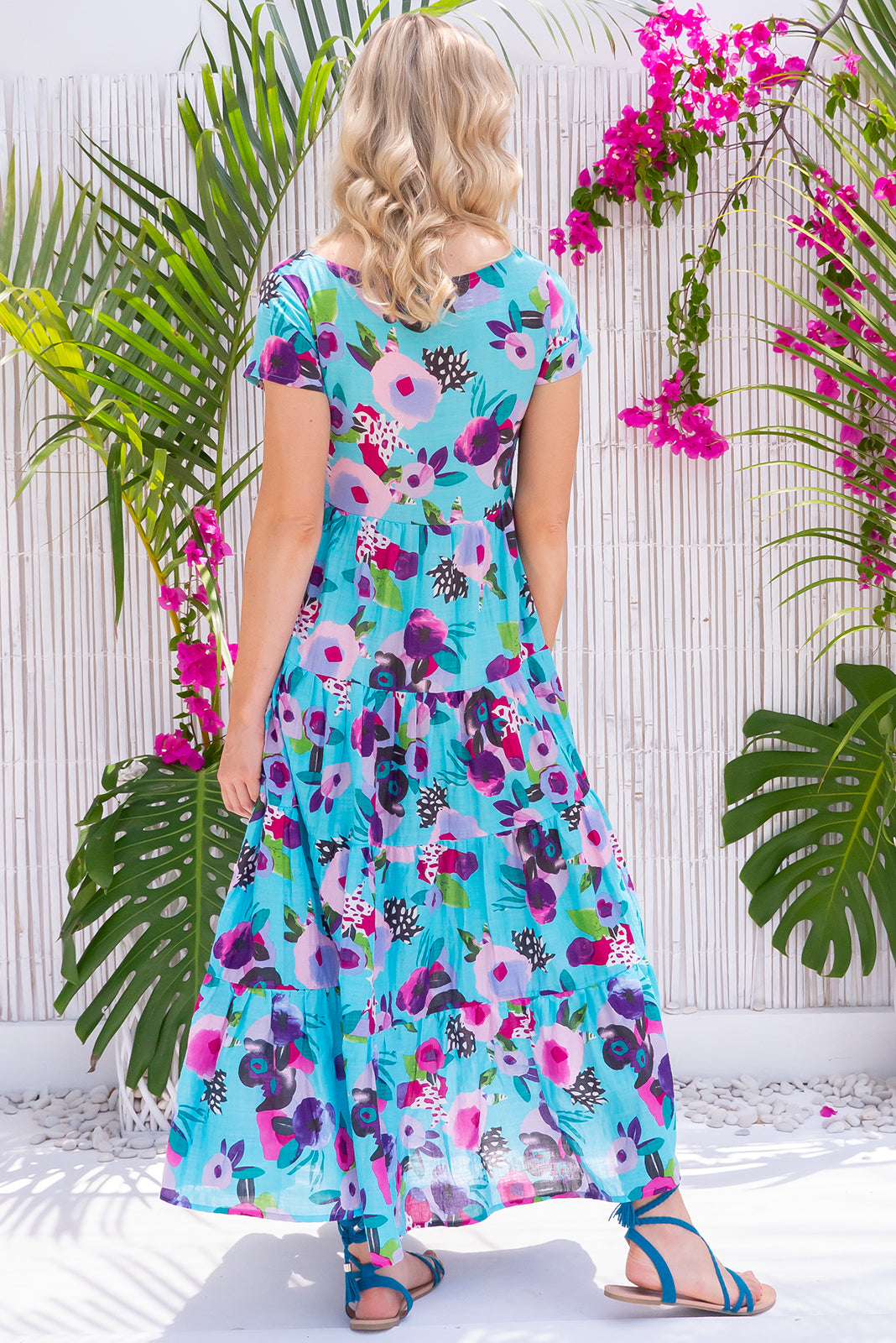 Lucky Lulu Miro Blue Maxi Dress