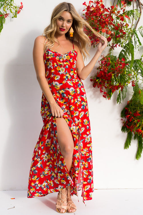 Luella Red Hot Maxi Dress