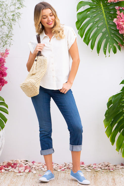 Luisa Shirt Cream Linen Love