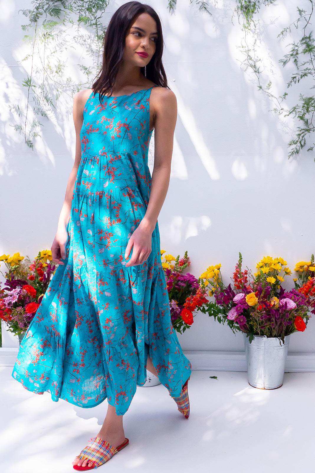 Lulu Darling Bay Breeze Blue Maxi Dress