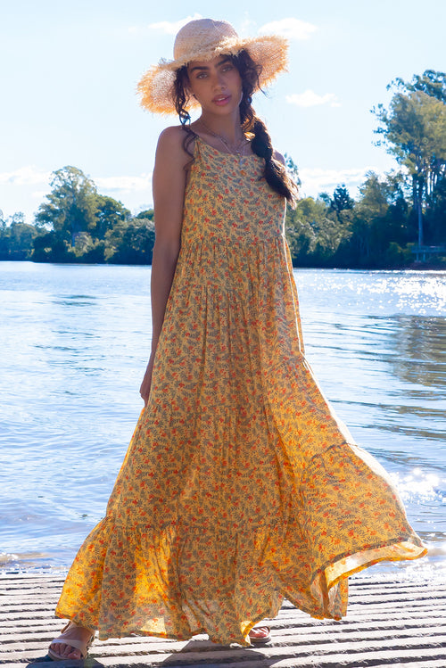 Lulu Darling Honey Gold Maxi Dress