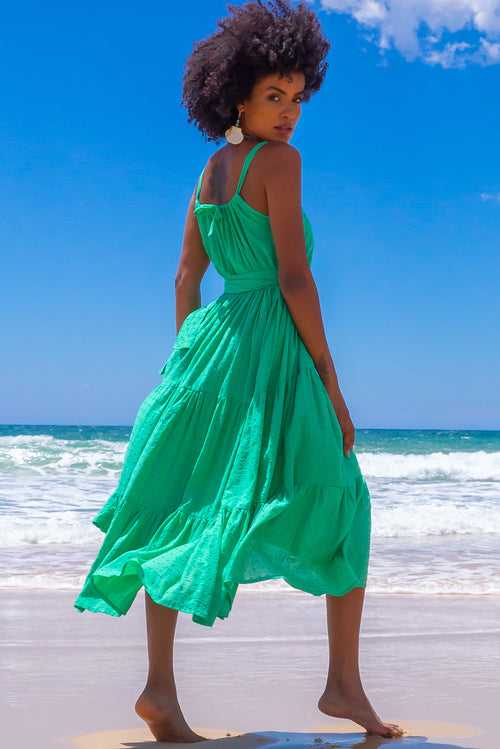 Lulu Loves Electric Green Maxi Dress