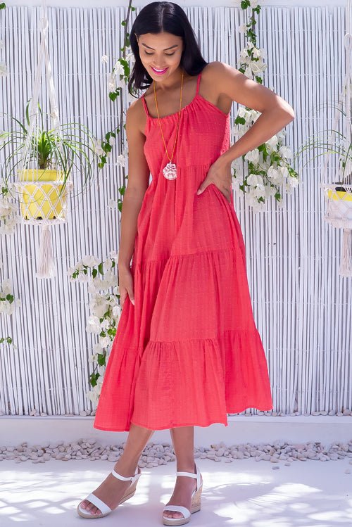 Lulu Loves Watermelon Red Maxi Dress